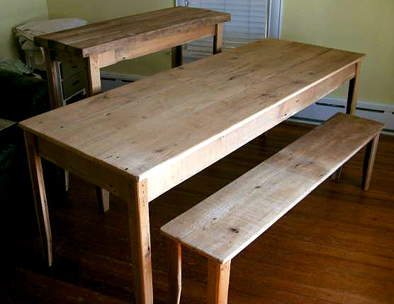 diy farmhouse table and bench plans