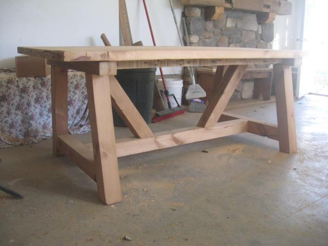 Katie Fuller table and bench (3)