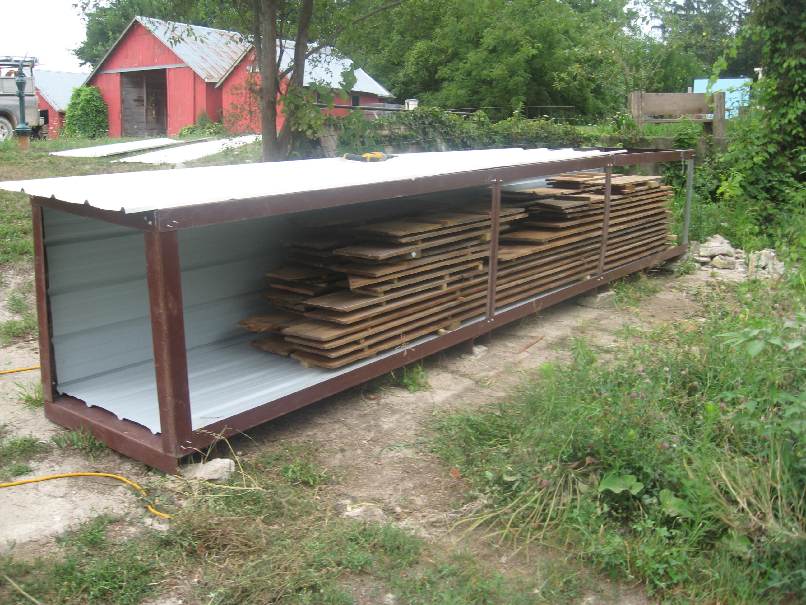 diy wood kiln