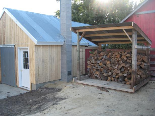 how to build a wood shelter