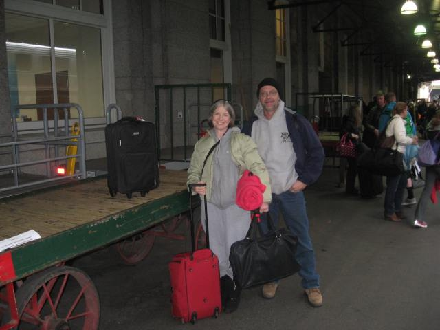 arriving @ the Seattle Train Depot