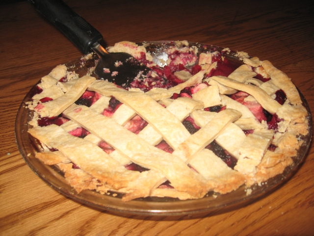apple black raspberry pie