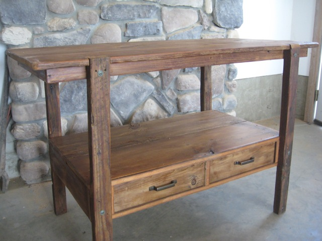 TV Stand out of reclaimed lumber